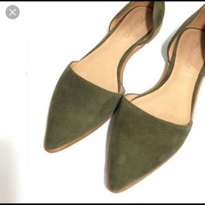 Madewell Olive d'Orsay Flat